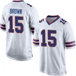 Nike John Brown Buffalo Bills Youth Game White Jersey