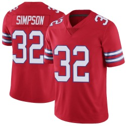 Nike O. J. Simpson Buffalo Bills Youth Limited Red Color Rush Vapor Untouchable Jersey