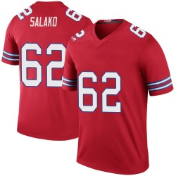 Nike Victor Salako Buffalo Bills Men's Legend Red Color Rush Jersey