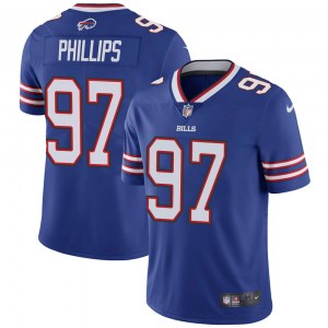 Nike Jordan Phillips Buffalo Bills Men's Limited Royal Team Color Vapor Untouchable Jersey